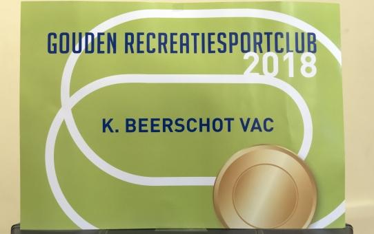 Gouden Recreatiesport label voor Beerschot Atletiek in 2018
