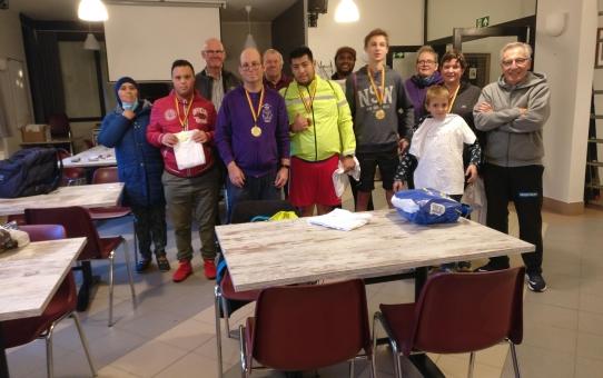 Onze G-Atleten bouwden een feestje na hun deelname aan het BK in Oordegem