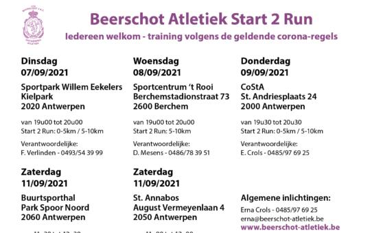 Begin met lopen vanaf 7 september