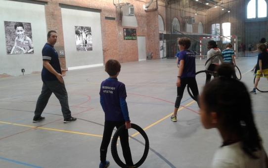 Belgische toptrainer geeft werptraining bij BVAC