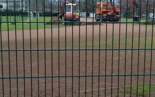 Werken piste Kielpark zijn gestart