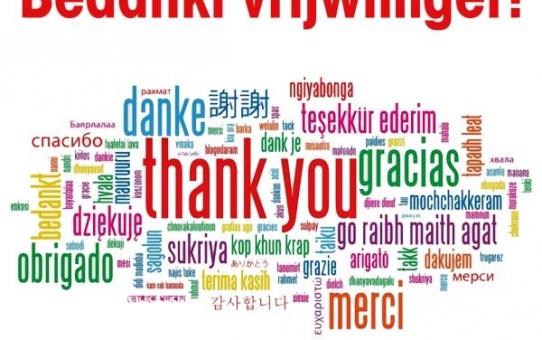 Bedankt Vrijwilligers